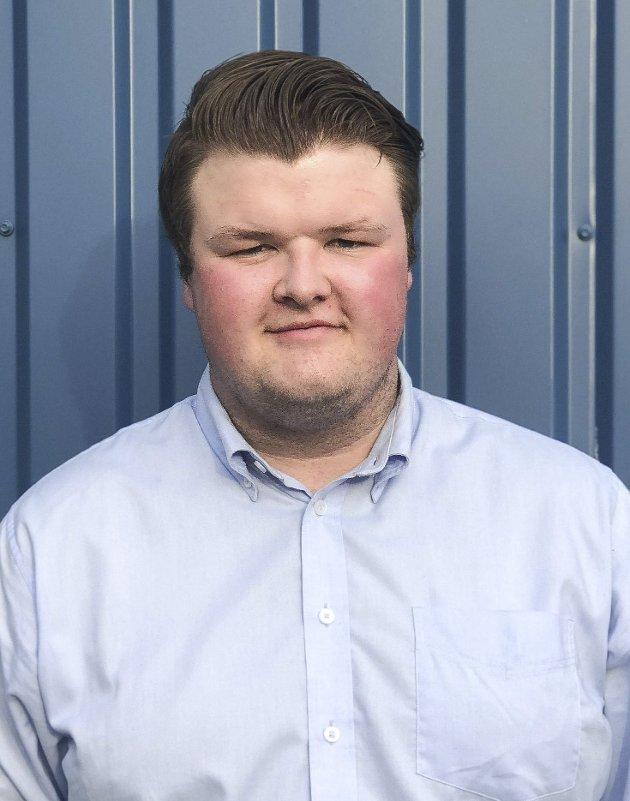 Andreas Øverli Jacobsen er nr. 4. på kommunestyrelista til Øvre Eiker Høyre.