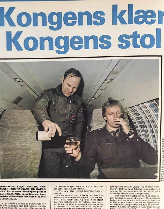 1982: Jeg har alltid jobbet i pressen. Også da jeg var vernepliktig. Det var spennende og interessant å være vernepliktig journalist også. Faksimile: FORSVARETS FORUM