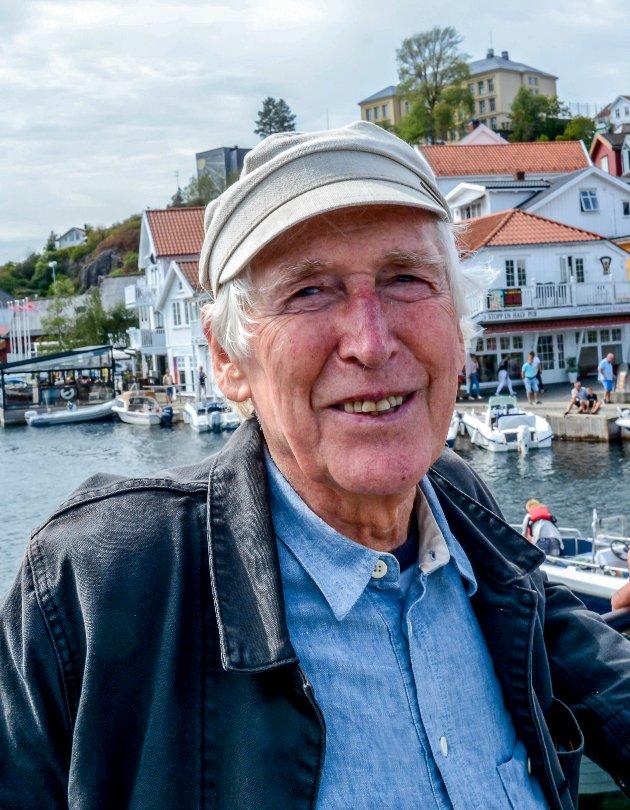 Alf Cranner var alltid smilende og blid når man traff ham på byen. Dette fotografiet ble tatt i 2018.