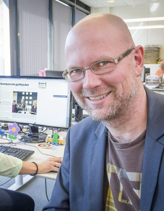 FÅR KONKURRANSE: Glåmdalens redaktør Thor Sørum-Johansen må ruste seg i økt kamp om leserne i Kongsvinger.