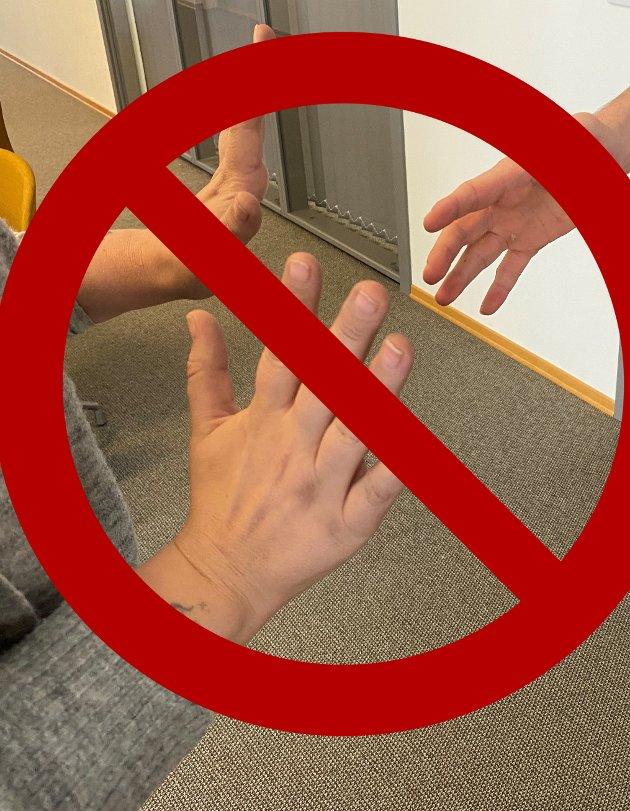 Avstand: Vil det brått føles naturlig å håndhilse igjen når koronakrisen er over?