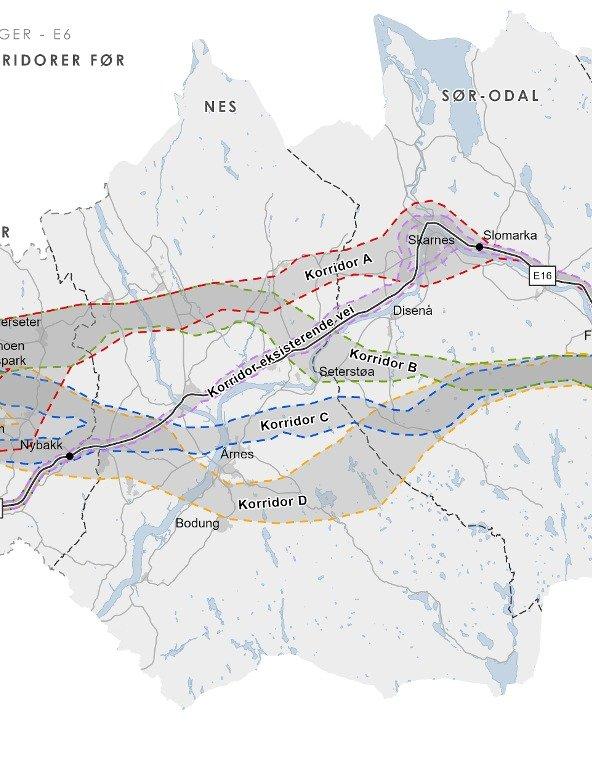 ALTERNATIVER: Nye Veien vil redusere fra fem til tre alternativer.