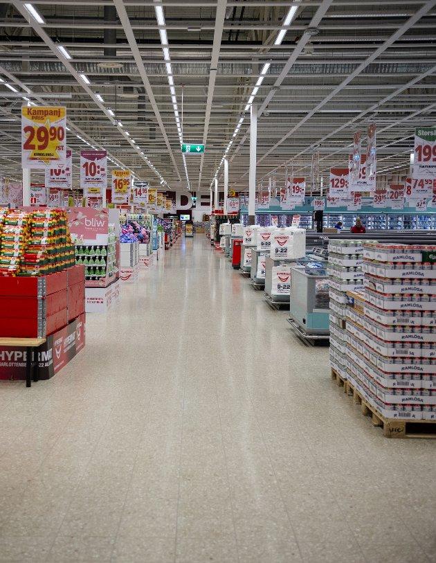 Tomt: Butikker i Charlottenberg er hardt rammet av koronatiltakene.