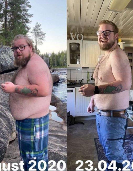 TYNNERE TORODD: Rundt 30 kilo er borte på et halvår. Vi er imponerte.