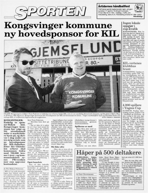 Slik så Glåmdalens aprilspøk ut 1. april 1993.