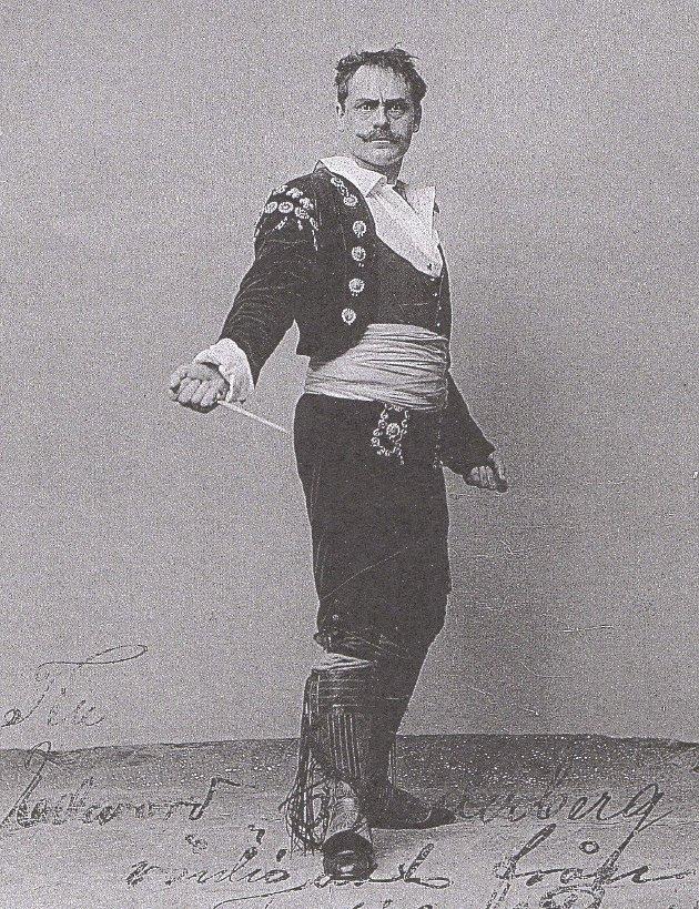 BATBOST: Portrett av Michael Bratbost, tatt ca 1900. Fra Kunglgia Operans Bilde arkiv, med tillatelse