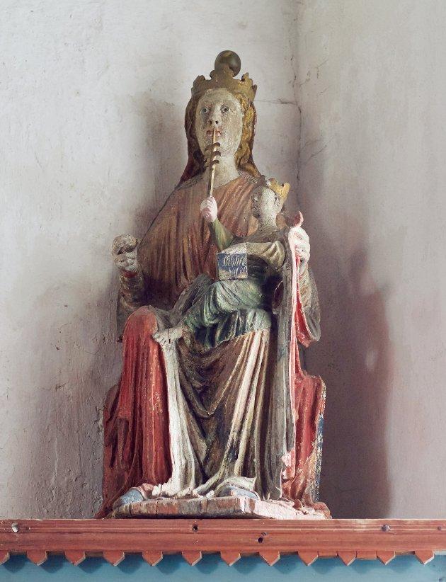 Madonna fra Bønsnes, ca. 1250-1300. Bønsnes kirke.