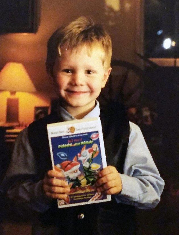 Sverre Lunde Pedersen jul som barn. (Foto: Privat)