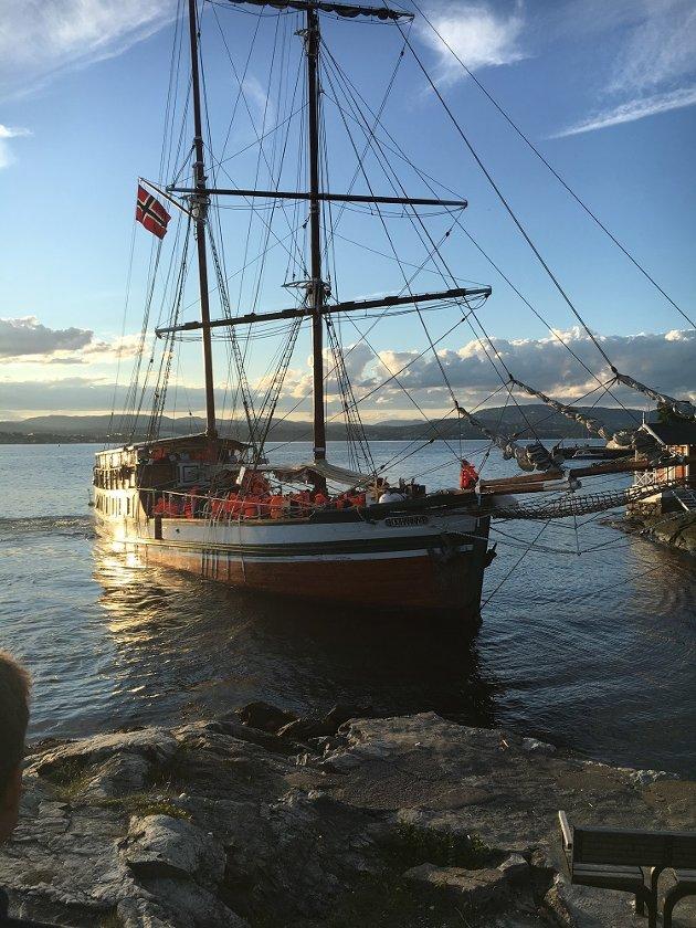 """Festen tok brått slutt for gjestene på partybåten """"Johanna"""". Båten krasjet inn i klippene ved Hornklippene."""