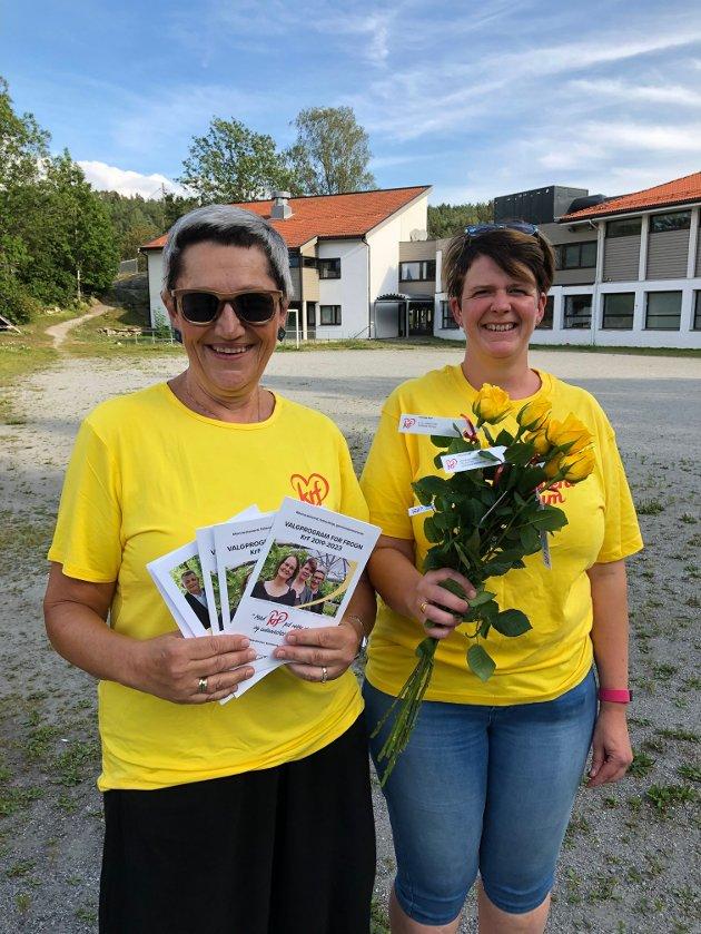 Bente Bjerknes og Mette Wilhelmsen i Frogn KrF.
