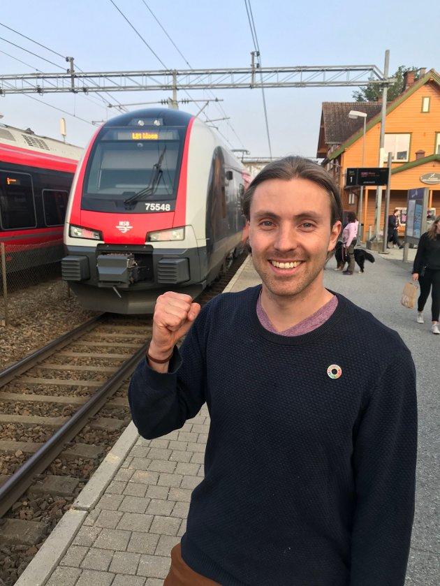 Ordførerkandidat for De Grønne i Ås, Martin Løken, vil ha satsing på tog med blant annet nattog til Berlin.
