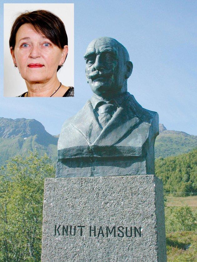 Knut Hamsun skrev rasistisk om samene. Skal tankegangen til aktivistene følges, må bysten på Hamarøy rives.