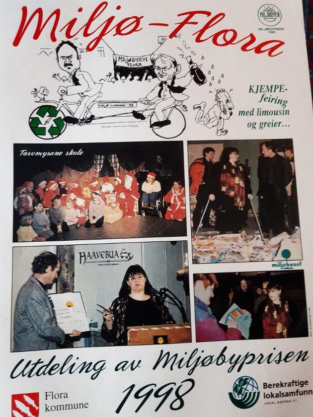 FRAMTIDSTRU: Den nasjonale «Leve heile livet»-prisen til Kinn kommune, gir Magne Bakke trua på ein god alderdom i Florø. Her er minne frå tidlegare tider som viser at Flora kommune har vore langt framme også på andre område.