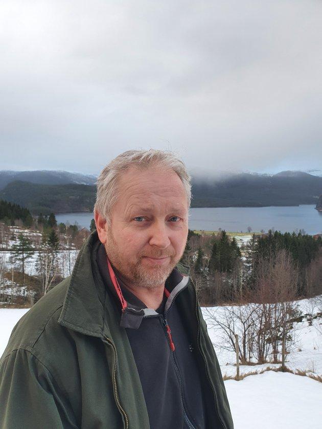 KRITISK TIL VINDKRAFT: Odd Ivar Yndestad, i Nei til Vindkraft - Bevar naturen! i Sunnfjord.