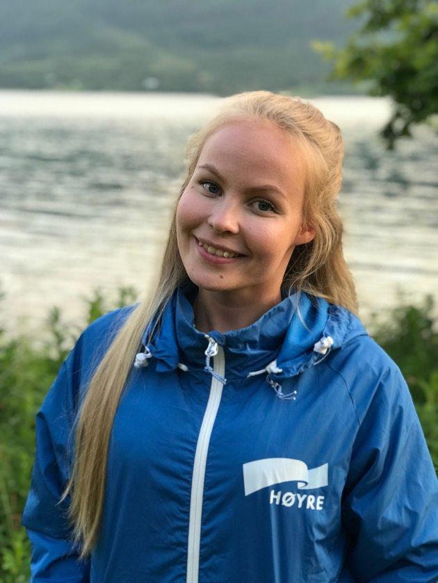 SIER NEI: Tonje Nilsen, fylkesleder i Troms og Finnmark Unge Høyre, slår fast at ungdomspartiet i Troms, Finnmark og Nordland ikke ønsker å satse på jernbane i nord.