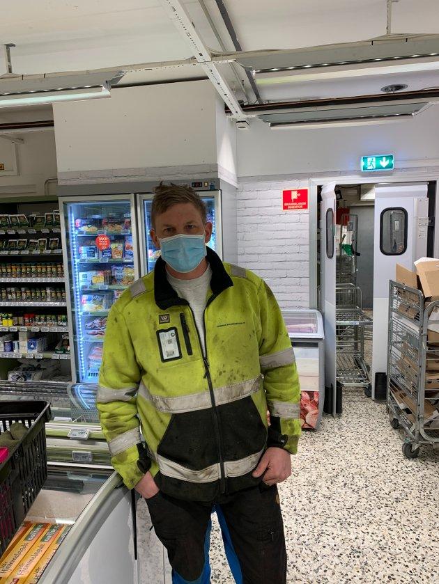 Ole Guttorm Bjørnstad (39), Blaker: – Butikken ble kjempefin og jeg handler en del her. Jeg kommer til å handle her på samme nivå som jeg gjør nå.