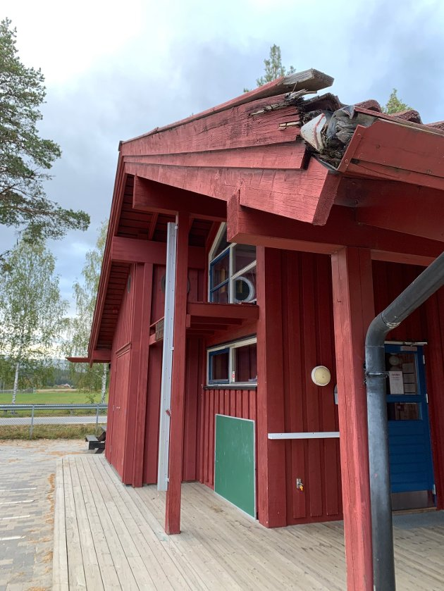 Råttent treverk på barnehagen