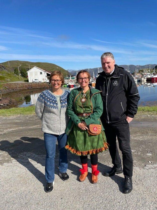 TIL VALG: Geir Adelsten Iversen, Nancy P Anti og Heidi Holmgren fra Finnmark Senterparti