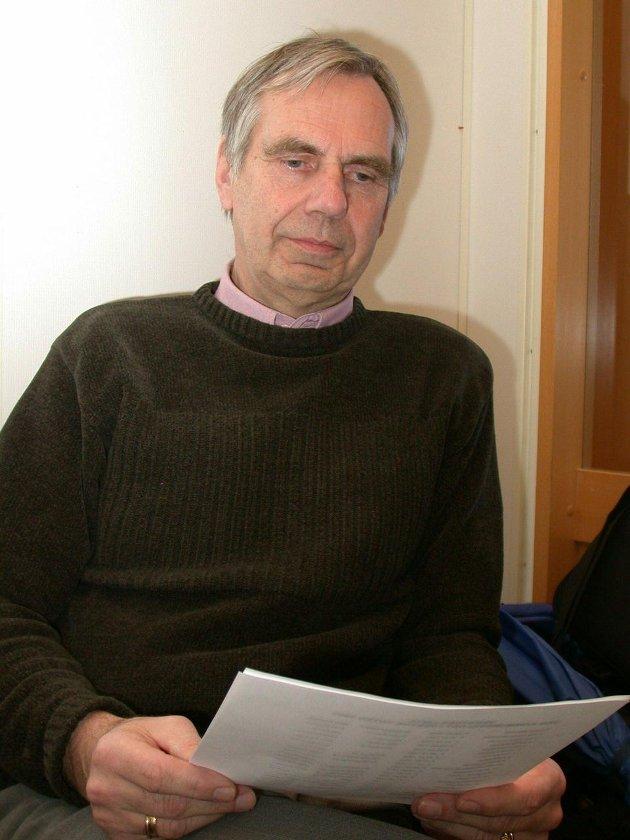 LEDER: Einar Wiklund i Gjøvik-Toten Nei til EU.Arkivbilde