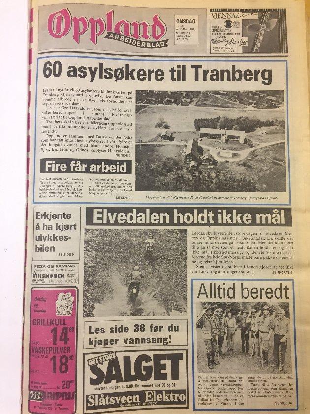 På årets første julidag kunne OA bringe nyheten om at 60 asylsøkere skulle innkvarteres på Tranbeg gård på Gjøvik.