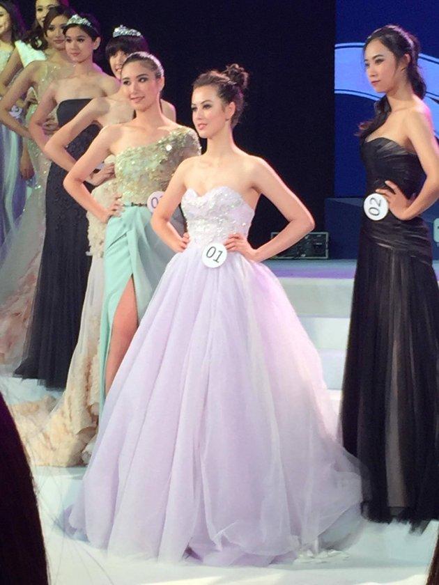 Fra finalen i modellkonkurransen.