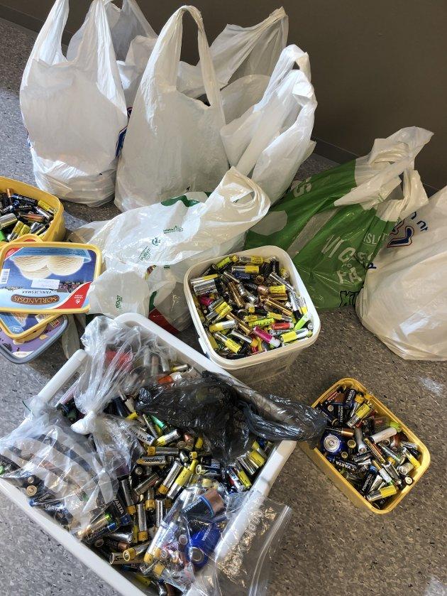 Nær 50 kilo batterier samlet hver elev i 4. klasse inn. Underveis hadde de mye moro og de lærte også masse av prosjektet.