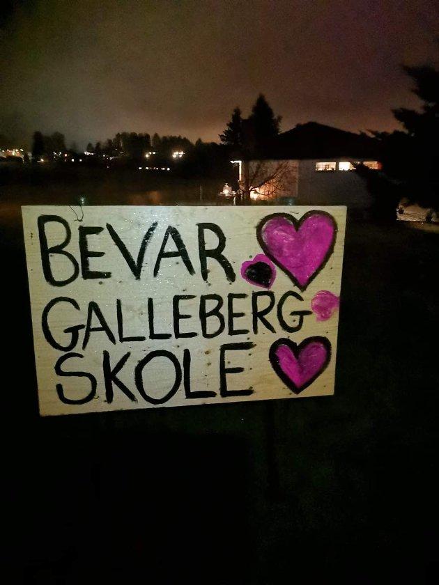 NEDLEGGINGSTRUET: Engasjementet er stort blant politikere og lokalbefolkningen for å beholde nedleggingstruede skoler i Sande, inkludert Galleberg.