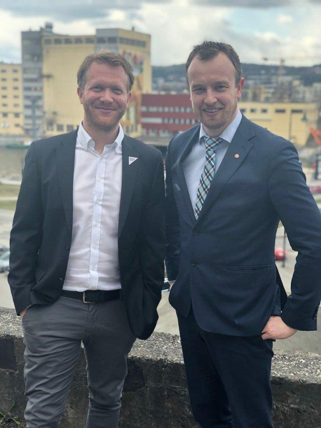 Ådne Naper SV (t.v) og Sven Tore Løkslid AP