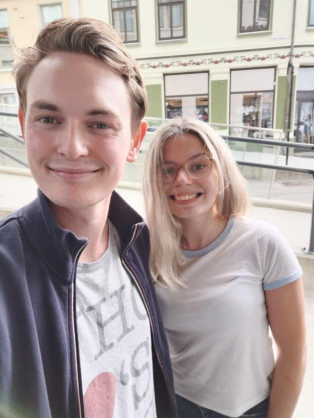 Falk Øveraas og Elise Fiske.