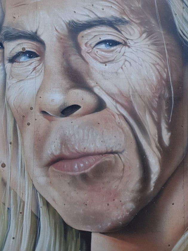 Jahn Teigen, portrettert av grafitti-kunstneren Steinar Caspari-Solvang.