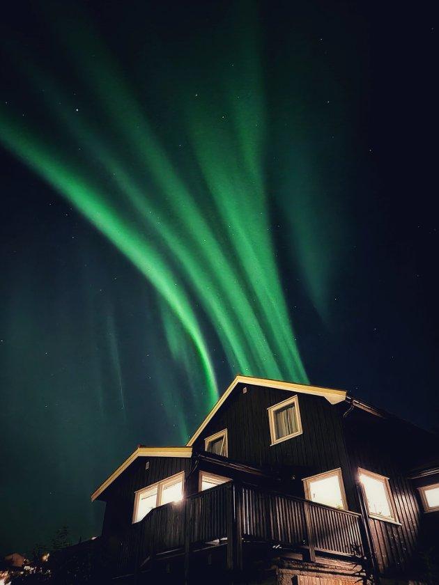 Nordlyset over Levanger