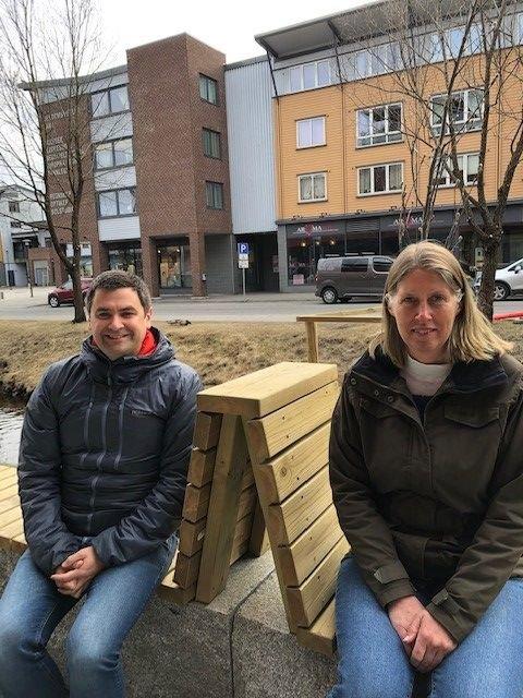 LEDELSEN: Pål Einar Røch Johansen og Iren Beisvåg er leder og nestleder i Nittedal Arbeiderparti.