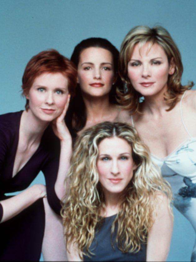 SKODESPELARANE: Frå venstre: Cynthia Nixon, Kristin Davis og Kim Cattrall. I front: Sarah Jessica Parker. Serien ligg på HBO.