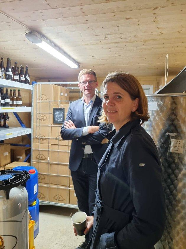 Terje Breivik og Solveig Schytz lot seg inspirere av besøket hos Norumbryggeriet