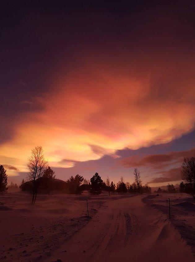 Fantastiske farger på Håneset. Foto: Anders Enoksen
