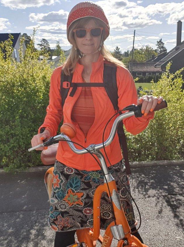 ENGASJERT: Innsender ser frem til å teste el-sykler, men på bildet er innsenders egen ikke-elektriske sykkel. Er du engasjert i saken? Gå inn på oblad.no/debatt