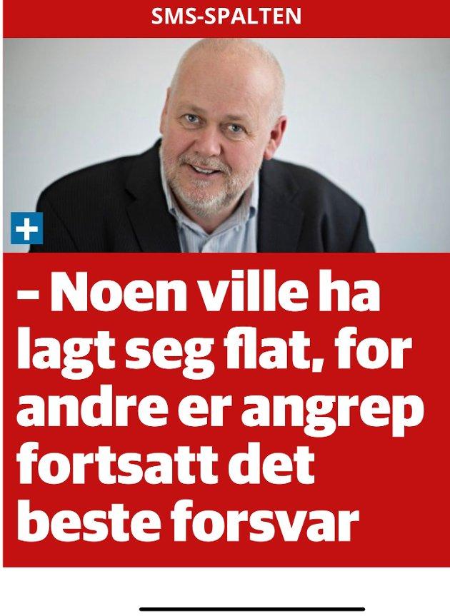 TK tåler ikke at noen rører ved deres illusjon av seg selv som en partiuavhengig avis, skriver Steinar Wiik Sørvik. (Screenshot fra TKs nettutgave)