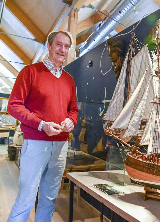 Tore Bjørn-Hansen er styrelder i Stiftelsen Lingard Skuteminne og har selv donert et millionbeløp for at kystkultursenteret på Gjeving skal bli realisert.