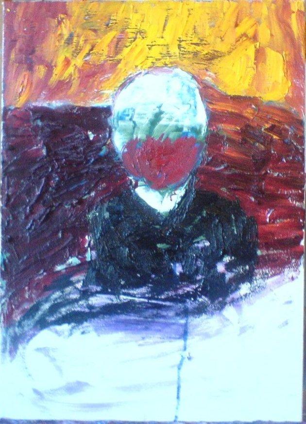 Kapitalisten, olje på lerret, 40 x 60 cm, malt av Ivar Jørdre