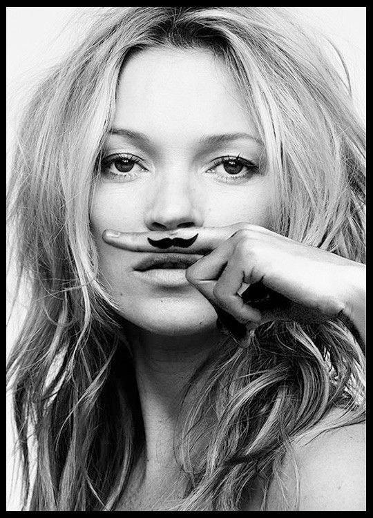"""Bilde:  Kate Moss, """"Life is a Joke"""", Mustasche."""