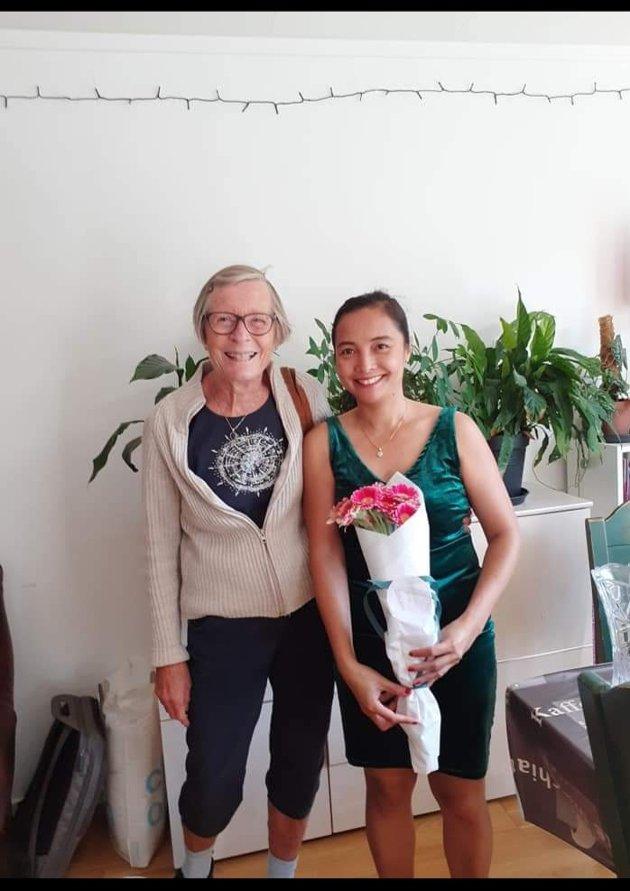 Marites Heyrosa ønsker å takke: - Veronica Hove er et mirakel og en engel. Jeg er glad i deg Veronica.