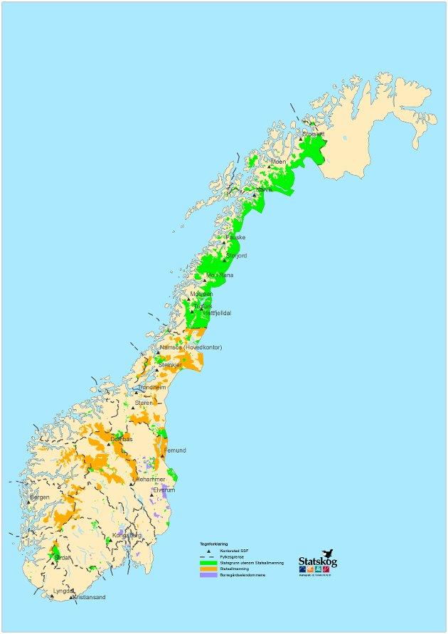 Kart statsgrunn og statsallmenning