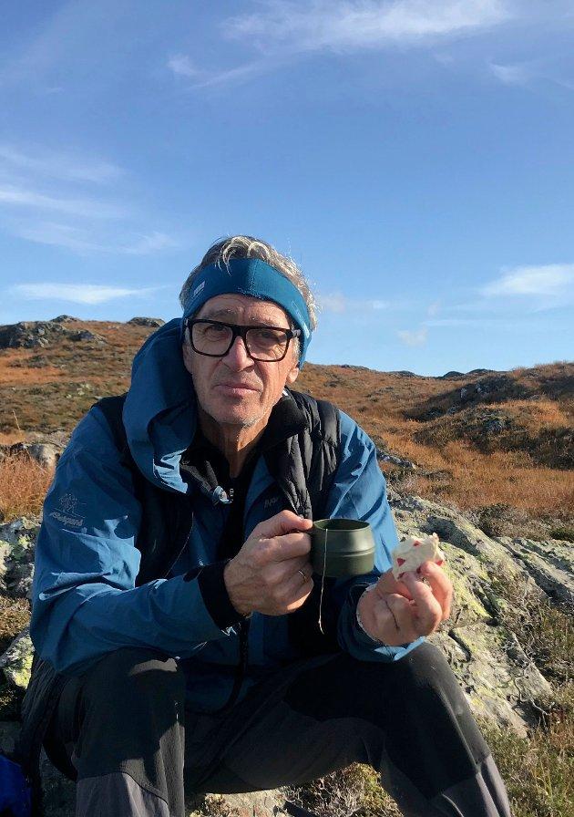 Leder i EBVT, Jonfinn Bremnes, er glad i fjellet og vil gjerne bidra til naturvern og bedre miljø og klima.