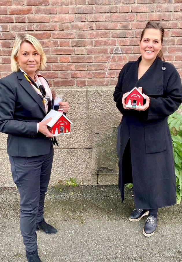 Justisminister Monica Mæland og stortingsrepresentant fra Larvik, Lene Westgaard-Halle