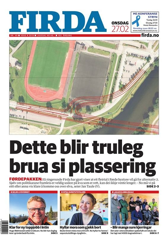 Slik trudde Tore Fossen  i 2019 bruløysinga skulle bli, omlag.  Eit fleirtal i formannskapet 2020 meiner noko heilt anna.