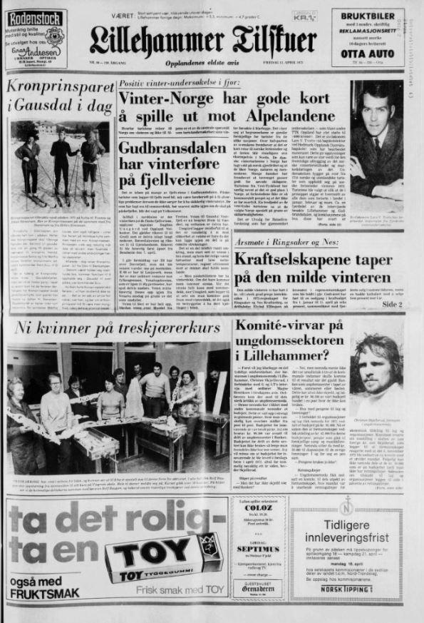 Fredag 13. April 1973.