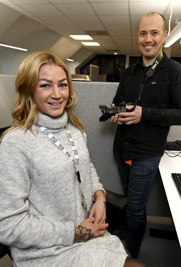 NYE: Elin Kristiansen Moen og Jørn Hindklev er to av fem nye journalister i GD. Lokalt eierskap betyr at vedtak knyttet til nyansettelser også gjøres lokalt.Foto: Torbjørn Olsen