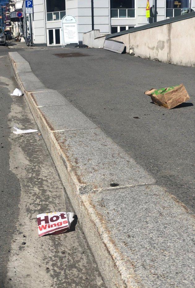 TakeAway søppel overalt i Gjøvik omegn og sentrum