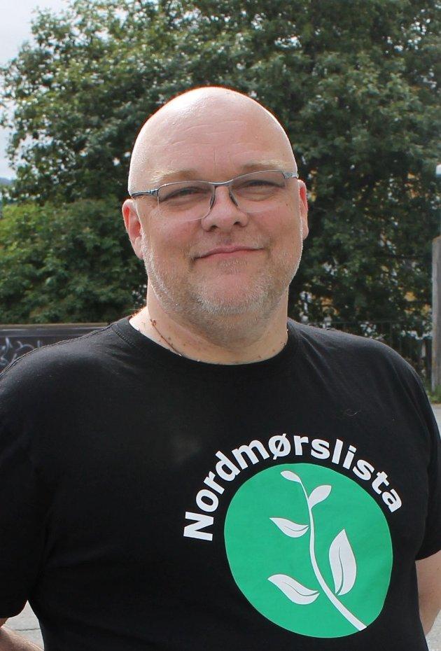 Stig Anders Ohrvik er gruppeleder for Nordmørslista i Kristiansund, og representerer Nordmørslista i bystyret og i formannskapet. Foto: Inger Johanne Ohrvik/Nordmørslista