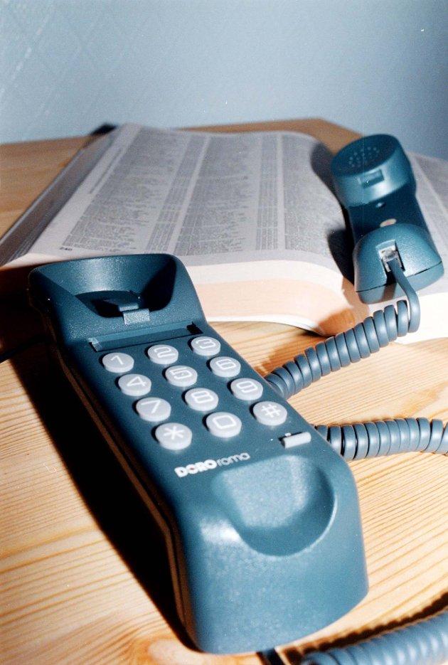 FASTTELEFON: Telenor lovar her at ingen skal miste fasttelefonen, før dei har tilbod om ein annan løysing.